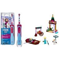 Oral-B Vitality Kids D12K Frozen + LEGO Disney 41155 Elsa a dobrodružstvo na trhu