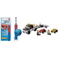 Oral-B Vitality Kids Cars + LEGO City 60148 Závodný tím štvorkoliek