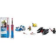 Oral-B Vitality Kids StarWars + LEGO Star Wars 75196 Stíhačka A-Wing vs mikrostíhačka TIE Silencer