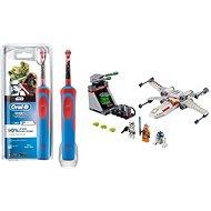 Oral-B Vitality Kids StarWars + LEGO Star Wars 75235 Útek z priekopy so stíhačkou X-Wing