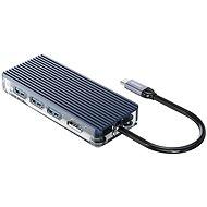 Orico USB-C Hub 6 in 1 Transparent, SD/TF reader - USB hub