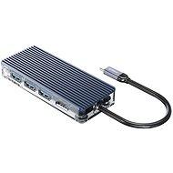 USB hub Orico USB-C Hub 8 in 1 Transparent, SD/TF reader, Power Delievery, Ethernet