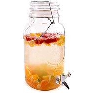 Fľaša sklo + kohútik 3,5 l