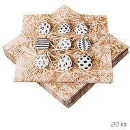 ORION Obrúsok papier Malé vajíčka 20 ks 33 × 33 cm - Papierové obrúsky