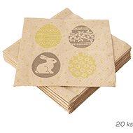 ORION Obrúsky papier Vajíčka a zajačik 20 ks 33 × 33 cm - Papierové obrúsky