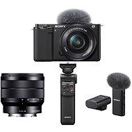 Sony Alpha ZV-E10 + 16-50mm f/3.5-5.6 + 10-18mm f/4.0 + Grip GP-VPT2BT + Microphone ECM-W2BT - Digital Camera