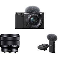 Sony Alpha ZV-E10 + 16-50mm f/3.5-5.6 + 10-18mm f/4.0 + Mikrofón ECM-W2BT