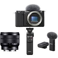 Sony Alpha ZV-E10 telo + 10-18mm f/4.0 + Grip GP-VPT2BT + Mikrofón ECM-W2BT - Digitálny fotoaparát