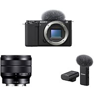 Sony Alpha ZV-E10 telo + 10-18mm f/4.0 + Mikrofón ECM-W2BT - Digitálny fotoaparát