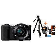 Sony Alpha A5100 čierny + objektív 16–50 mm + Rollei Foto Starter Kit 2 - Digitálny fotoaparát