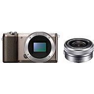 Sony Alpha A5100 hnedý + objektív 16–50 mm - Digitálny fotoaparát