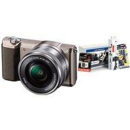 Sony Alpha A5100 hnedý + objektív 16–50 mm + Alza Foto Starter Kit - Digitálny fotoaparát