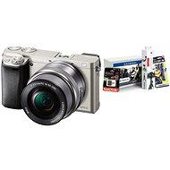 Sony Alpha A6000 strieborný + 16–50 mm objektív + Alza Foto Starter Kit - Digitálny fotoaparát