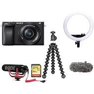 Sony Alpha A6400 + 16-50 mm čierna Vlogger Kit Premium - Digitálny fotoaparát