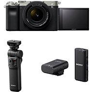Sony Alpha A7C + FE 28-60mm stříbrný + Grip GP-VPT2BT + Mikrofon ECM-W2BT