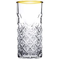 PASABAHCE TIMELESS GOLDEN TOUCH long drink, 295 ml - Sada pohárov