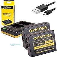 PATONA Foto Dual Quick Fuji NP-W126 + 2× batéria 1020 mAh - Nabíjačka akumulátorov