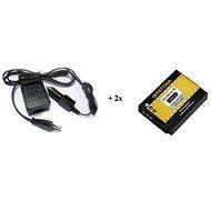 PATONA sada pre GoPro HERO 3/3+ AHDBT-201 nabíjačka + 2× batéria 1180mAh - Nabíjačka akumulátorov