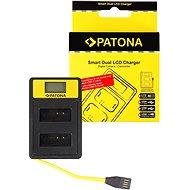 Nabíjačka akumulátorov PATONA pre Dual Canon LP-E12 s LCD, USB