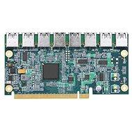 ANPIX adaptér z PCIe x16 na 8× USB (PCIe riser) - Redukcia