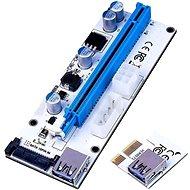 ANPIX verTRIO redukcia (verzia biela) PCIe x1 na PCIe x16, LED - Redukcia