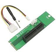 UNIBOS M.2 na PCIe x1 riser - Redukcia