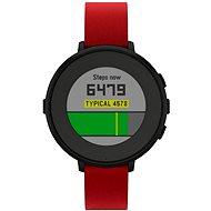 Pebble Time Round čierno-červené - Smart hodinky