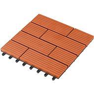 WPC dlaždice G21 Samoa čerešňa 2,3 × 30 × 30 cm - Lem trávnika