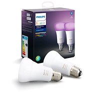 Philips Hue White and Color ambiance 9 W E27 sada 2 ks - LED žiarovka
