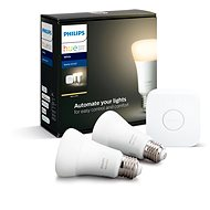 Philips Hue White 9 W E27 malý starter kit - LED žiarovka