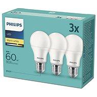 Philips LED 9 – 60W, E27 2700 K, 3 ks