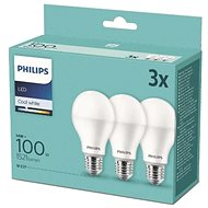 Philips LED 14-100W, E27 2700K, 3ks - LED žiarovka