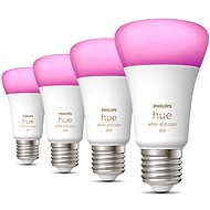 Philips Hue White and Color Ambiance 6,5 W 800 E27 4 ks