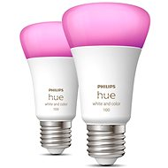 Philips Hue White and Color Ambiance 9 W 1100 E27 2 ks