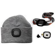 MAGG Cap with LED light - Grey - Hat