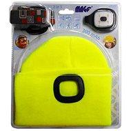 MAGG Čiapka s LED svetlom – reflexná žltá - Čiapka