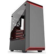 Phanteks Eclipse P300 Tempered čierno-červená - Počítačová skriňa