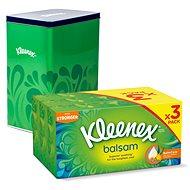 KLEENEX Balsam Triple Box (3 × 72 ks) + plechovka - Papierové vreckovky