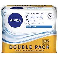 NIVEA Cleansing Wipes Normal skin Duopack 2 × 25 ks - Odličovacie obrúsky