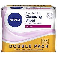 Čistiace utierky NIVEA Suchá koža Duopack 2 x 25 ks - Odličovacie obrúsky