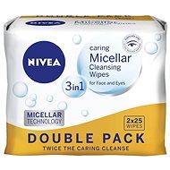 NIVEA Cleansing Wipes Micellar Duopack 2 × 25 ks - Odličovacie obrúsky