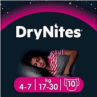HUGGIES Dry Nites Medium 4-7 years Girls (10 ks) - Detské plienky