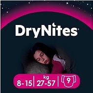 HUGGIES Dry Nites Large 8-15 years Girls (9 ks) - Detské plienky