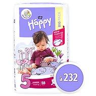 BELLA Baby Happy Junior veľ. 5 (232 ks) - Detské plienky