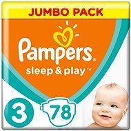 PAMPERS Sleep & Play Midi veľ. 3 (78 ks) – Jumbo Pack - Detské plienky