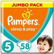 PAMPERS Sleep & Play Junior veľ. 5 (58 ks) – Jumbo Pack - Detské plienky
