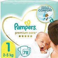 PAMPERS Premium Care vel. 1 Newborn (2-5 kg) 88 ks - Detské plienky