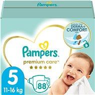 PAMPERS Premium Care Junior veľ. 5 (88 ks) – mesačná zásoba - Detské plienky