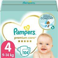 PAMPERS Premium Care Maxi veľ. 4 (104 ks) – mesačná zásoba - Detské plienky