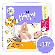 BELLA Baby Happy Mini veľ. 2 (312 ks) - Detské plienky
